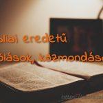 Bibliai eredetű szólások, közmondások