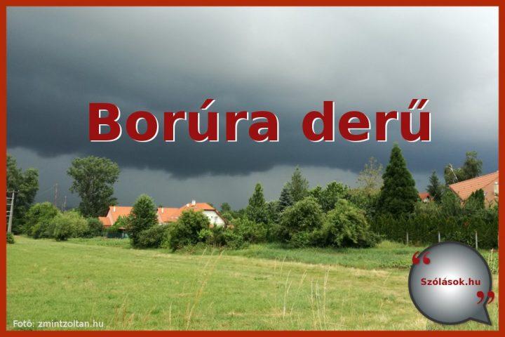 Borúra derű